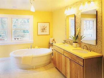 Dodatki do żółtej łazienki
