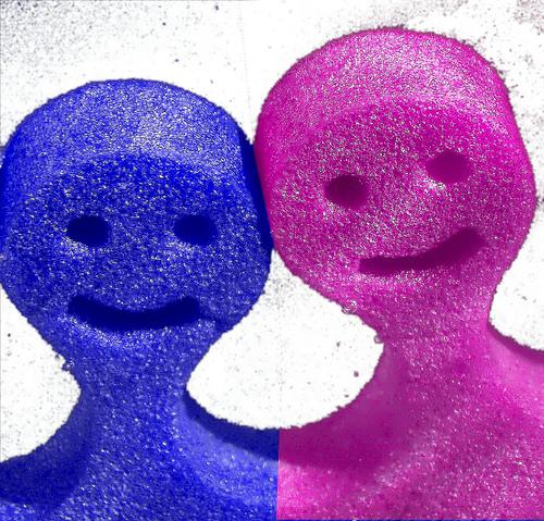 kolory farby gabka